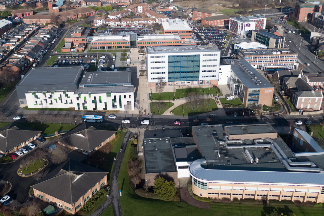 Aerial image of City Campus