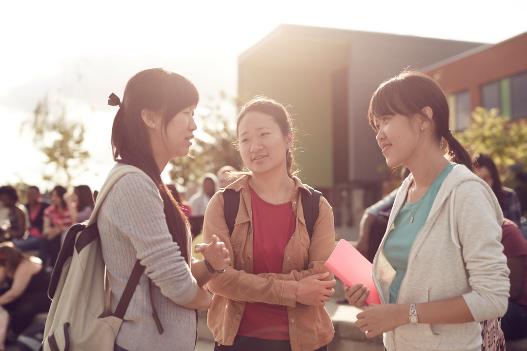 International students at city campus